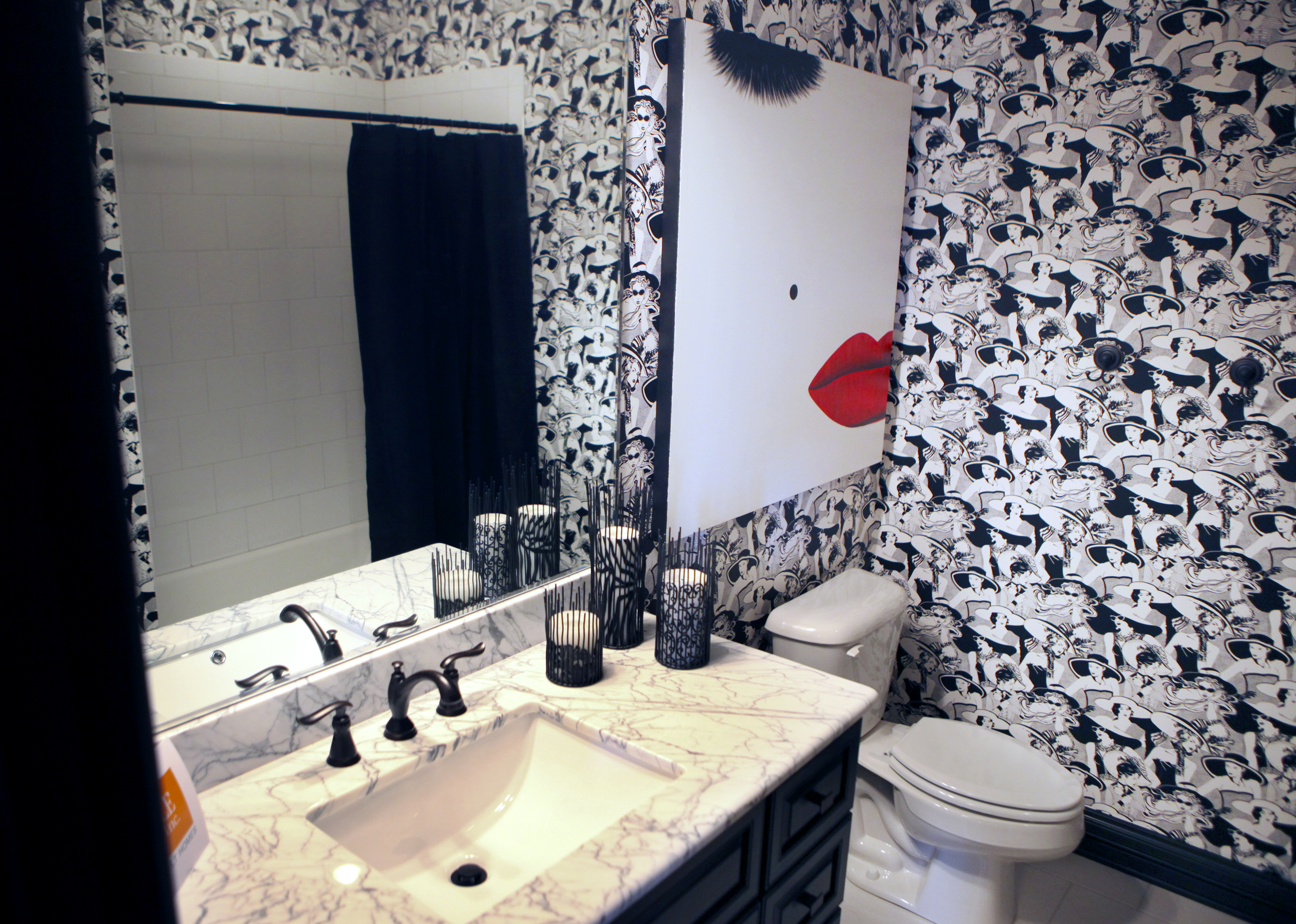 Marilyn Monroe Bathroom Decor And Products Black White Llds Home Interior Design