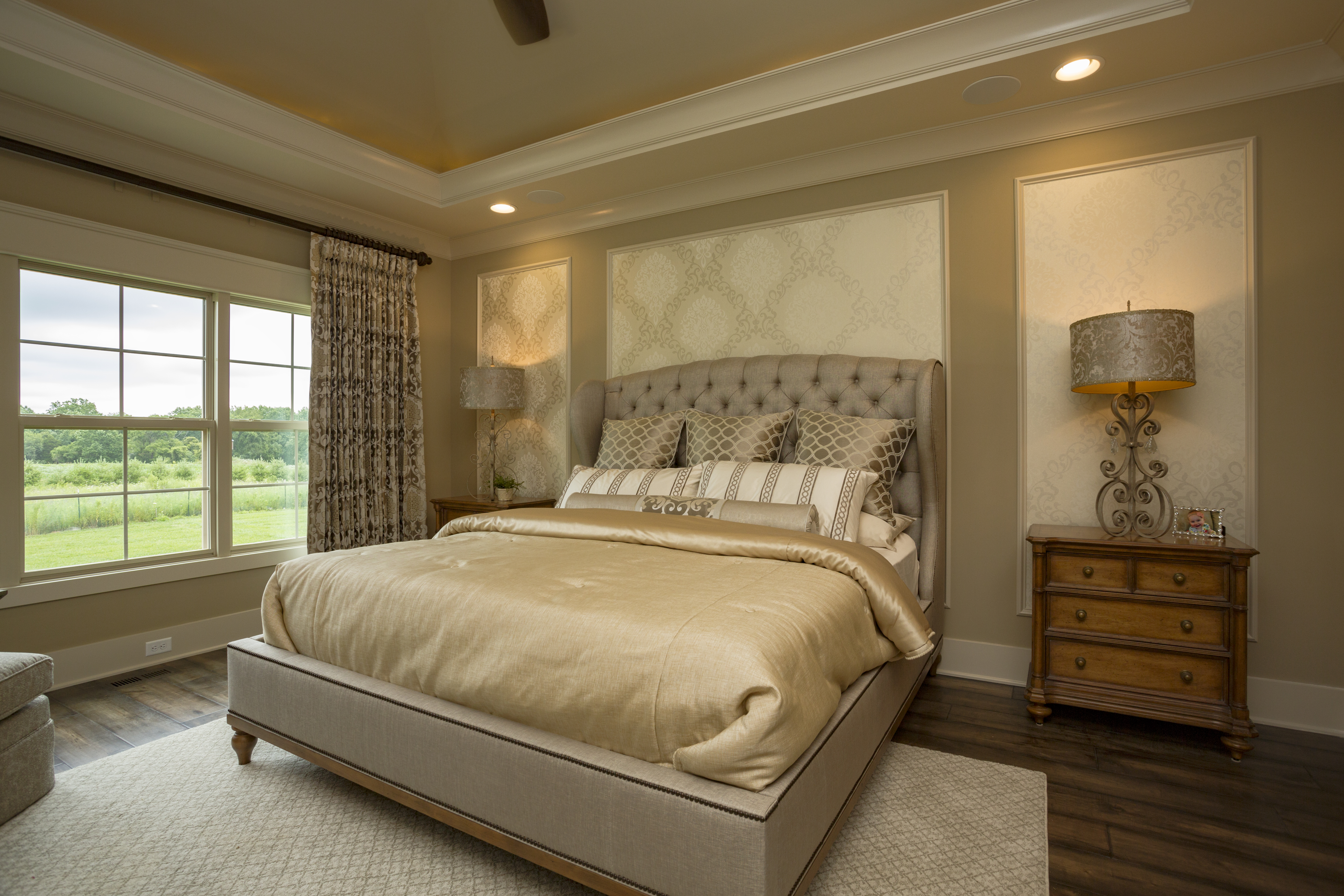 A Glamourous Master Suite With Gold Tones And Gorgeous Details